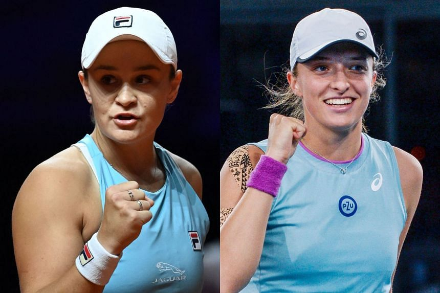 Barty (left) and Swiatek will be among the favourites at the upcoming French Open.