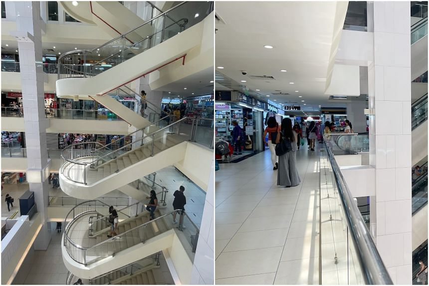 Shoppers at Lucky Plaza around 1.55pm on May 2, 2021.