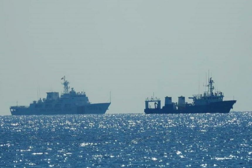 China's navy said last month similar drills will come more regularly amid escalating tensions with the island of Taiwan.