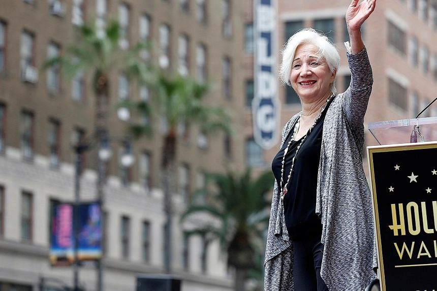 Actress Olympia Dukakis at the unveiling of her star on the Walk of Fame in Los Angeles, California, in May 2013.