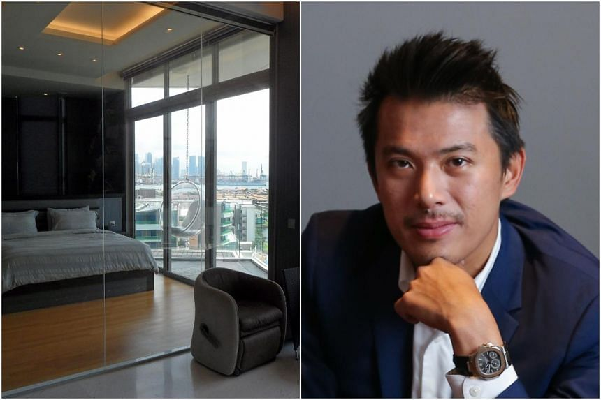 Mr Nelson Loh (right) and his wife paid $4.65 million for a triplex penthouse at The Oceanfront, which is now on the market for $4 million.