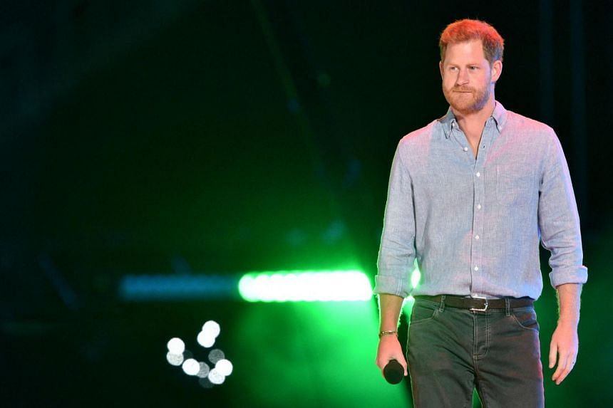 """Prince Harry described online disinformation about vaccines as a """"humanitarian crisis""""."""
