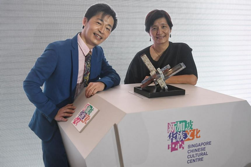 Dr Liang Wern Fook and Madam Kuo Jian Hong, artistic director at The Theatre Practice.
