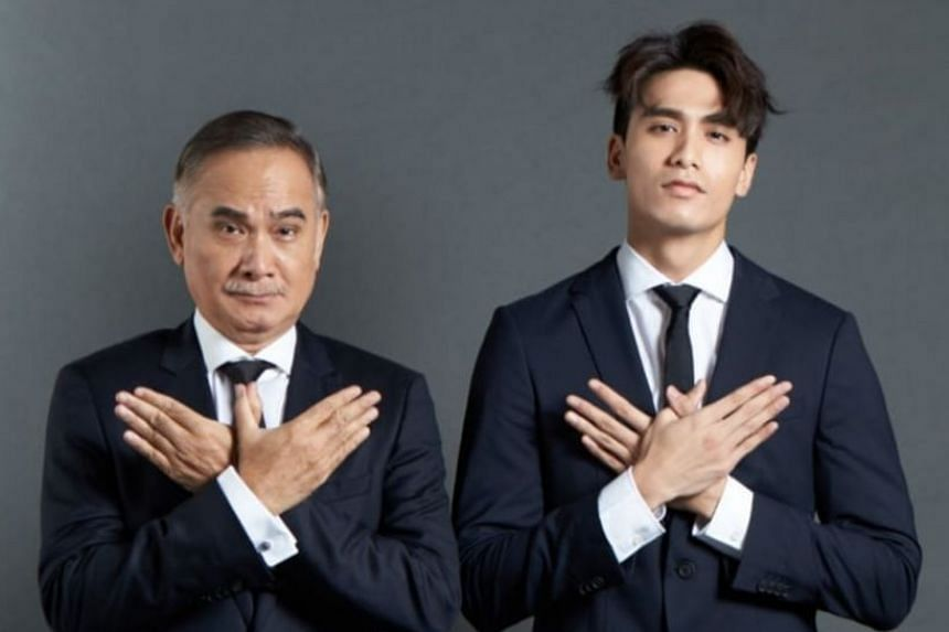 Joel Choo (right) is prolific on social media, especially on TikTok, where he has posted hilarious videos of himself and his father Zhu Houren (left).