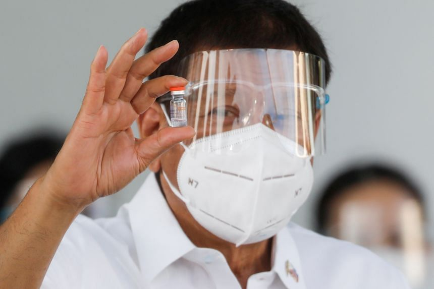 Mr Duterte had repeatedly expressed his preference for vaccines made by China and Russia.