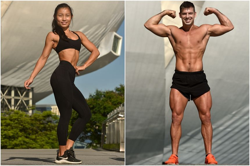Personal trainers Jacqueline Toh (left) and Samuel Gallo.