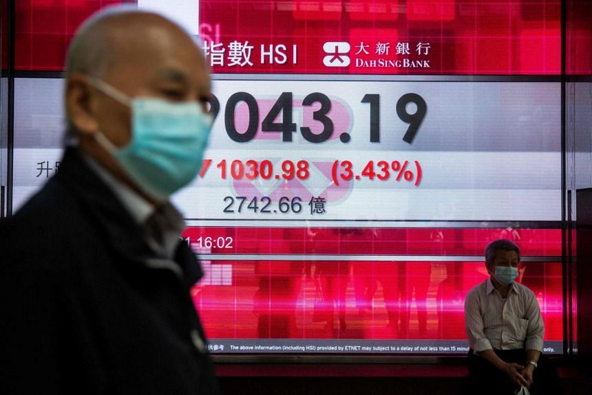 Hong Kong's Hang Seng Index opened 0.3 per cent higher at 28,441.95.