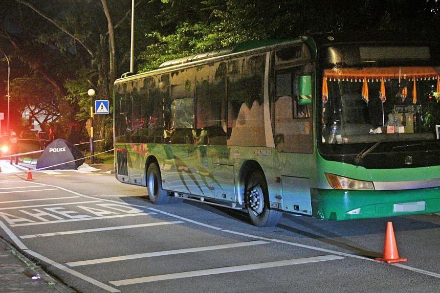 The police were alerted at 8.40pm to the accident along Nanyang Crescent towards Nanyang Drive.
