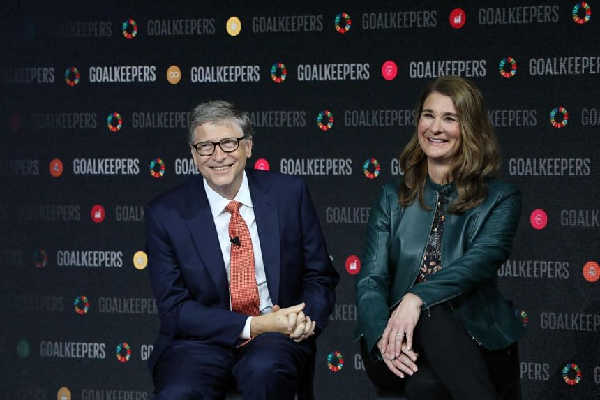 A photo from 2018 showing Mr Bill Gates and his wife Melinda at the Goalkeepers event at the Lincoln Centre in New York.