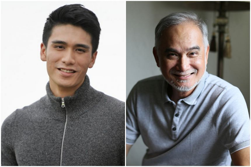 Actor Joel Choo, whose father is veteran actor Zhu Houren (right), is leaving The Celebrity Agency.