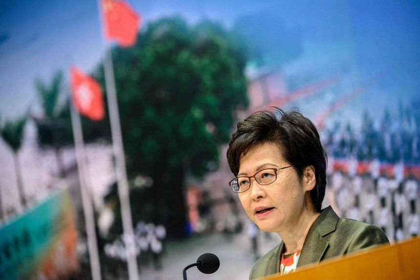 Ms Carrie Lam added she had no timetable for the legislation.