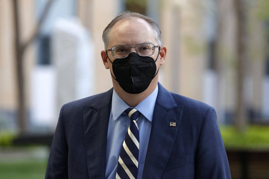 Epic Games CEO Tim Sweeney arrives at federal court in Oakland, California on May 3, 2021.