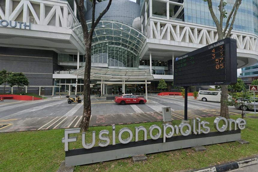 5 men and four women had allegedly gathered at a pub at 1 Fusionopolis Way in One North.