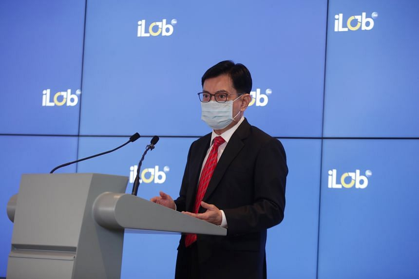Deputy Prime Minister Heng Swee Keat speaking at the launch of iLab 2021, a three-day virtual innovation festival.