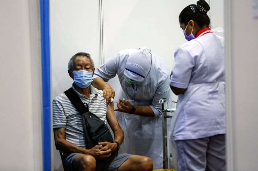 About 268,000 AstraZeneca vaccine slots were filled up in about three hours.