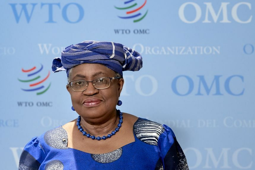 World Trade Organisation Director-General Ngozi Okonjo-Iweala at the WTO headquarters in Geneva, on April 12, 2021.