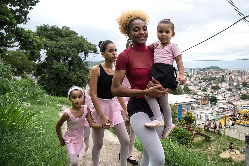 Actress Gal Gadot (left) executive-produced Impact With Gal Gadot, which shows how six women, including ballet teacher Tuany Nascimento (above), grapple with issues such as violence and oppression in their communities.