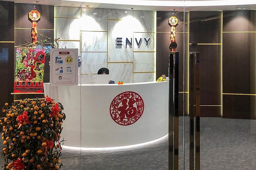A photo of Envy Global Trading's office taken in February. The firm's director, Ng Yu Zhi, is accused of involvement in deceiving investors into putting at least $1 billion into nickel deals that never took place. He has been charged with at least 11