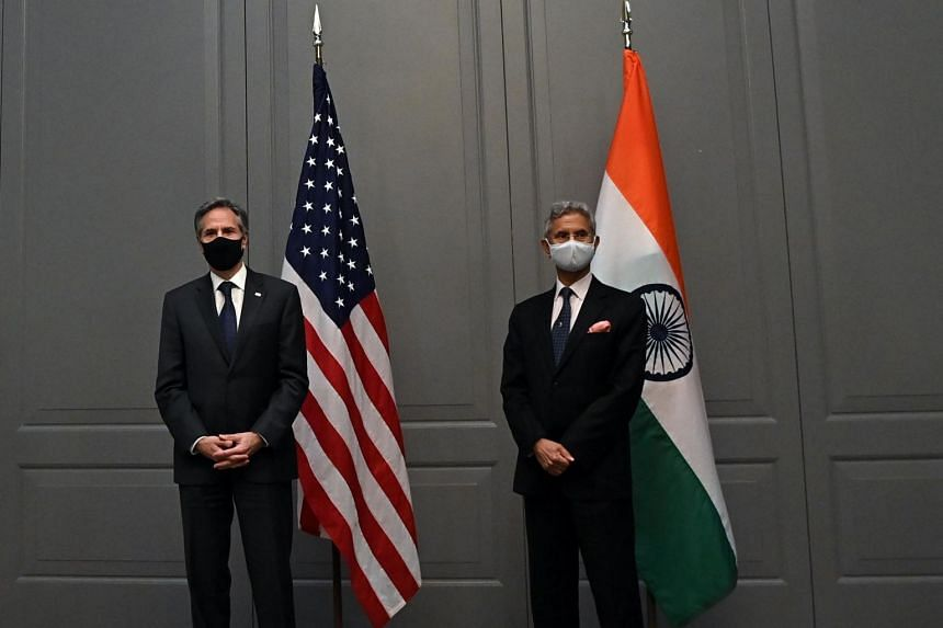 US Secretary of State Antony Blinken (left) and India's Foreign Minister Subrahmanyam Jaishankar during the G-7 foreign ministers meeting.
