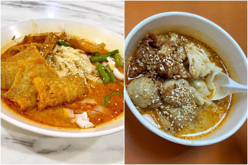 Ipoh curry noodle chee cheong fun (left) and Chee Cheong Fun Club.