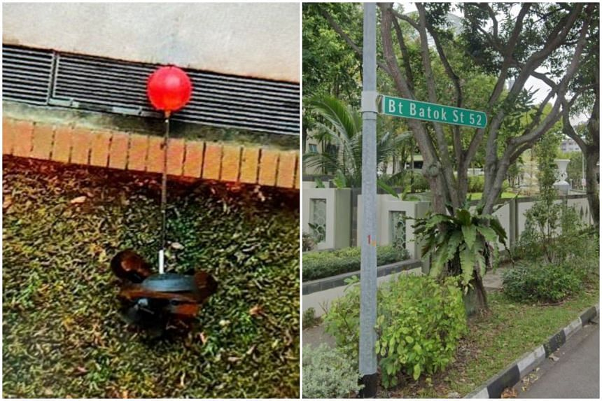 Police officers arrived at the block in Bukit Batok Street 52 and learnt that the boy had allegedly thrown the ball down from his flat.