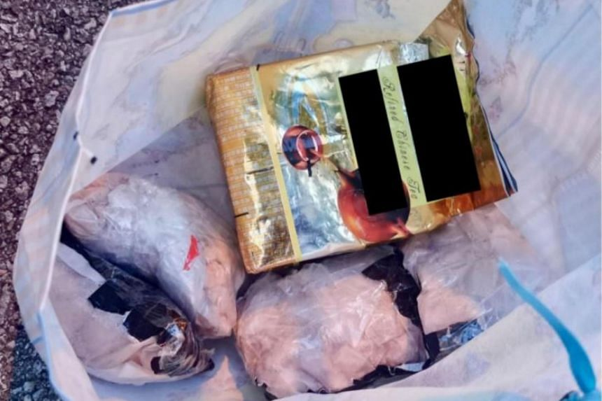 A total of 1,720g of heroin and 1,028g of Ice was found concealed in Chinese tea packaging.