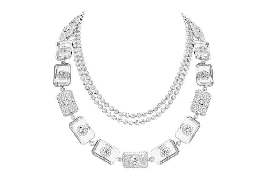 THE STOPPER: Highly geometric in design, one of the pieces, called the Crystal Stopper necklace.