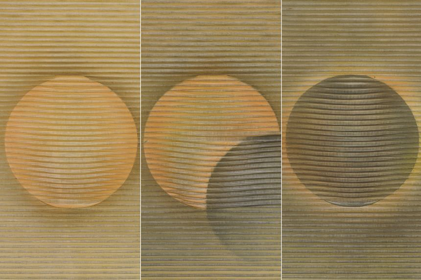 WORKS TO CATCH: Eclipse (1983, From Left) by Eng Tow.