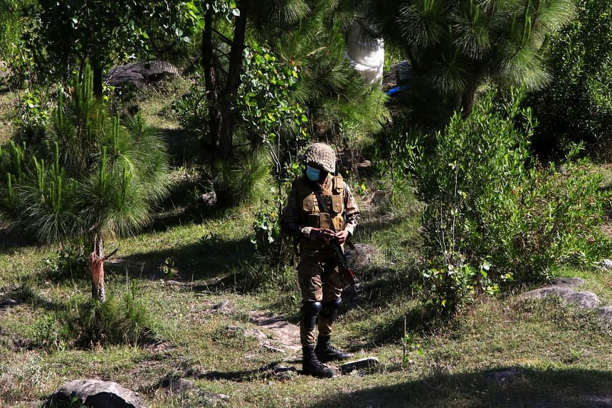 The soldiers were working on fencing along the border in Zhob district, an area of Pakistan's Balochistan province.