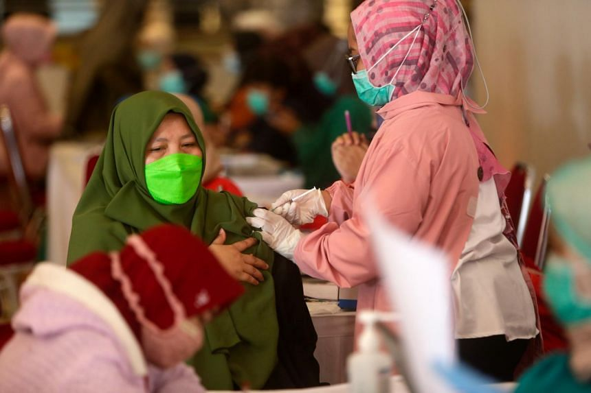 Indonesia planned to start vaccinating the general population only in July.