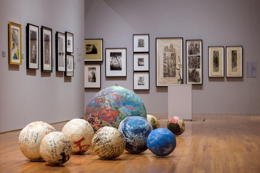 The works of Sufi mystic Mohammad Din Mohammad at the Something New Must Turn Up: Six Singaporean Artists After 1965 show.