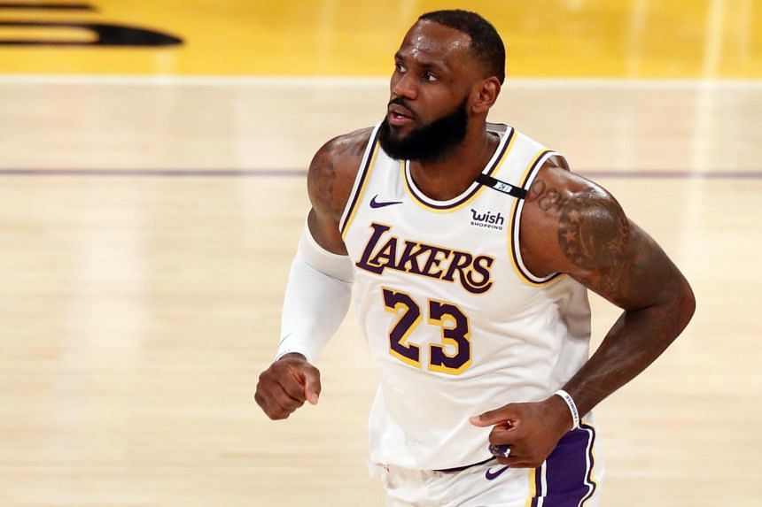 LeBron James missed 20 games with a high right ankle sprain.