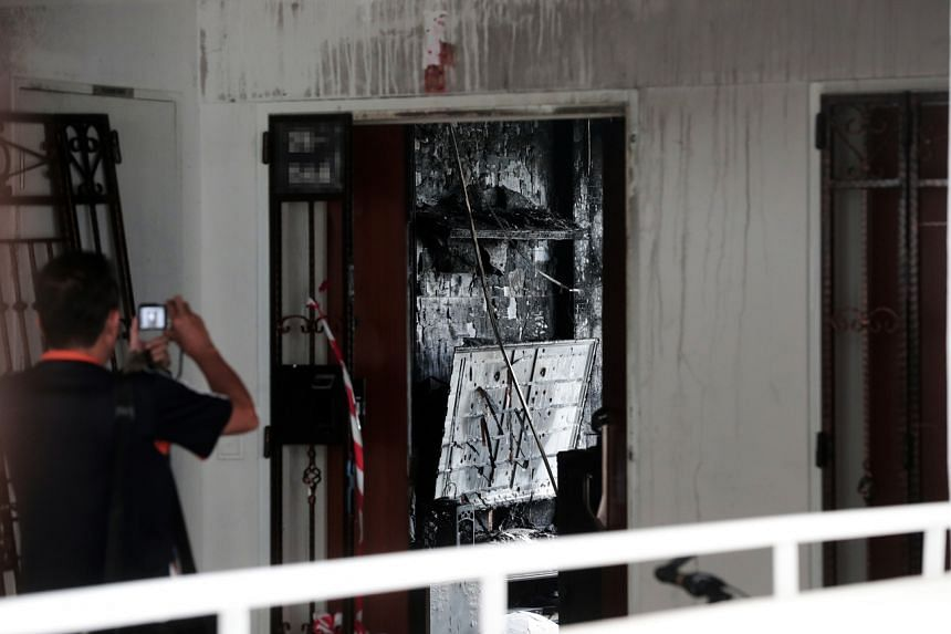 The fire that broke out in Mr Goh Keng Soon's Bukit Batok flat was caused by battery packs that overheated as they were being charged.