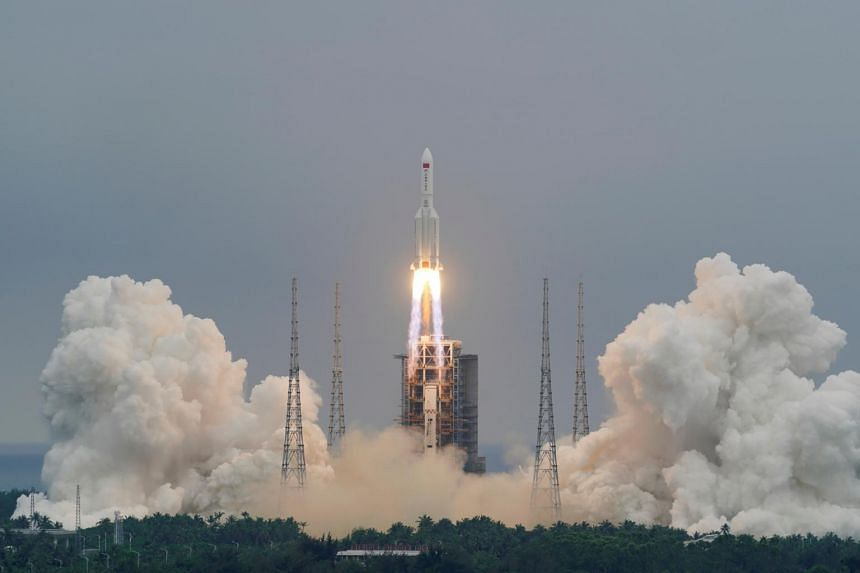 Part of China's largest rocket, the Long March 5B, is expected to fall to Earth in what is called an uncontrolled re-entry.