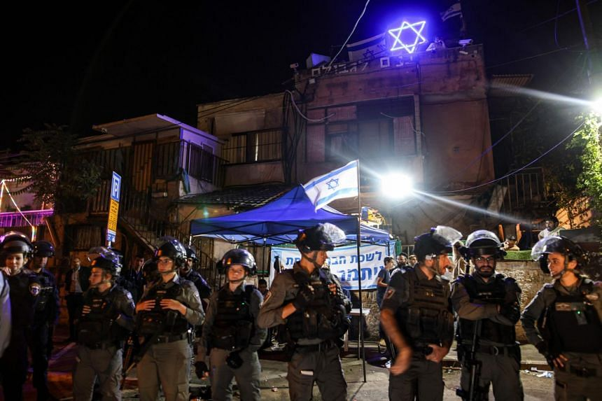 Police said protesters torched a vehicle and threw stones outside a house occupied by Jewish settlers.