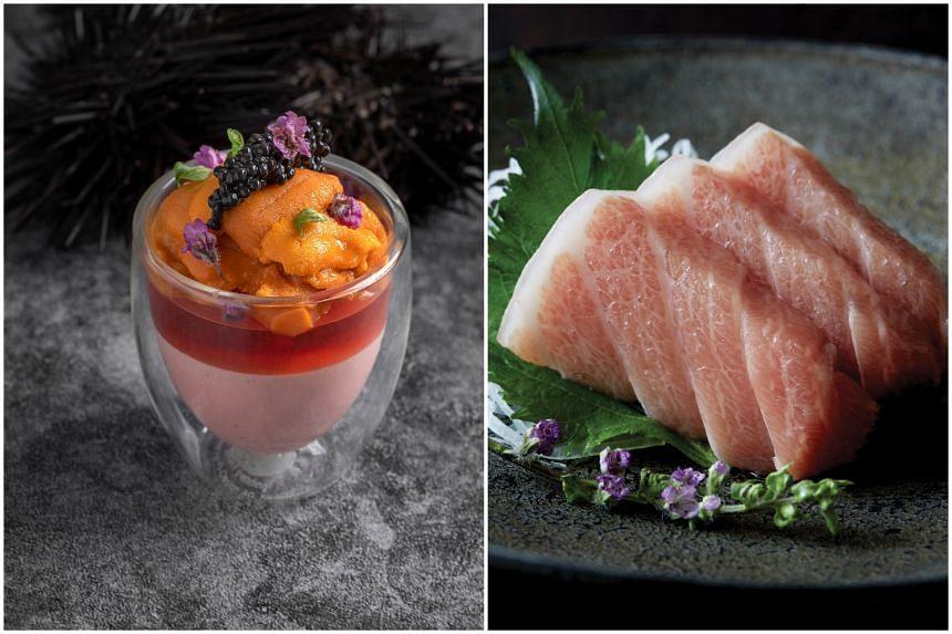 Uni from Iko and premium otoro sashimi from Sen-Ryo.