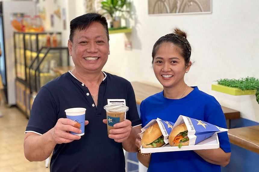 Mr Lim Gee and his wife Jessie Le, co-own Banh Mi Thit Vietnam By Star Baguette, an eatery in Geylang.