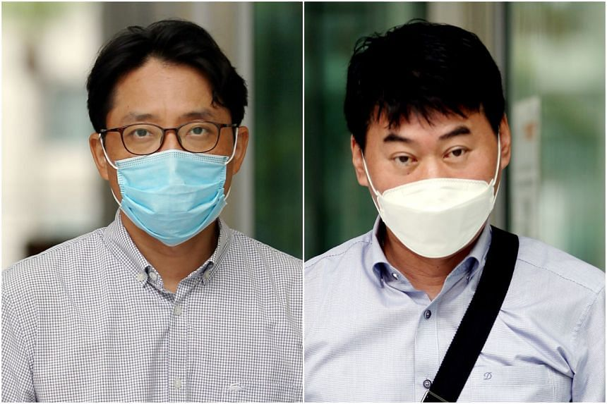 Korean nationals Ro Sungyoung (left) and Kim Young-gyu were employees of Daewoo Engineering & Construction when they committed the offence.