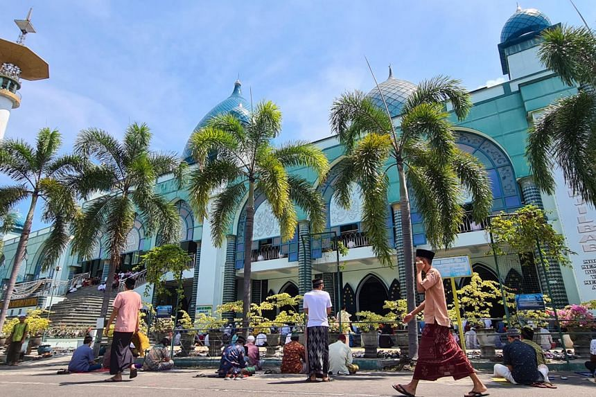 Local residents, like people in many parts of Indonesia, have resumed praying at mosques.
