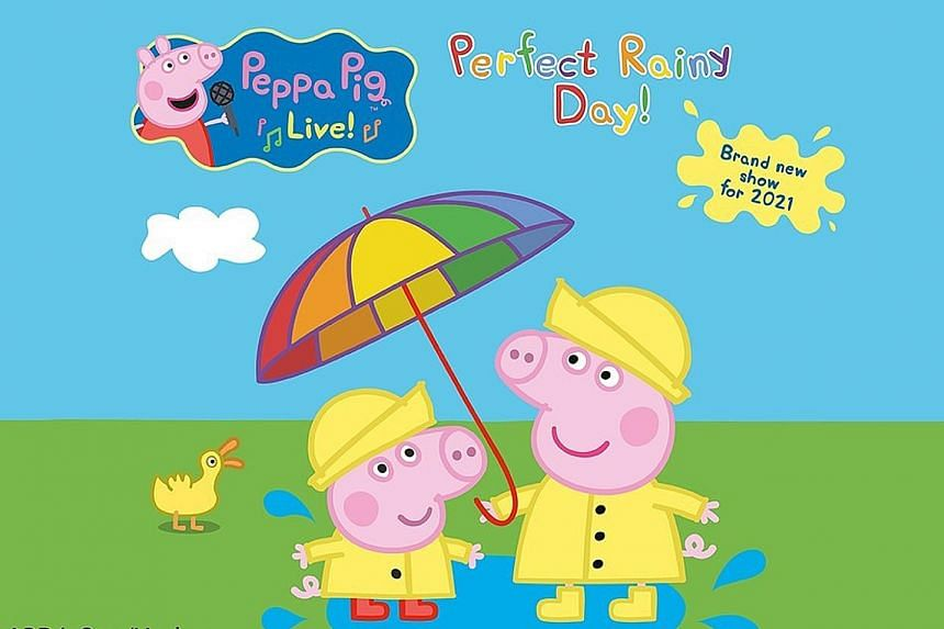 The Peppa Pig musical adventure called Perfect Rainy Day will be held at Esplanade - Theatres on the Bay from June 2 to June 10. Tickets are priced between $78 and $118. PHOTO: BIZ TRENDS ENTERTAINMENT