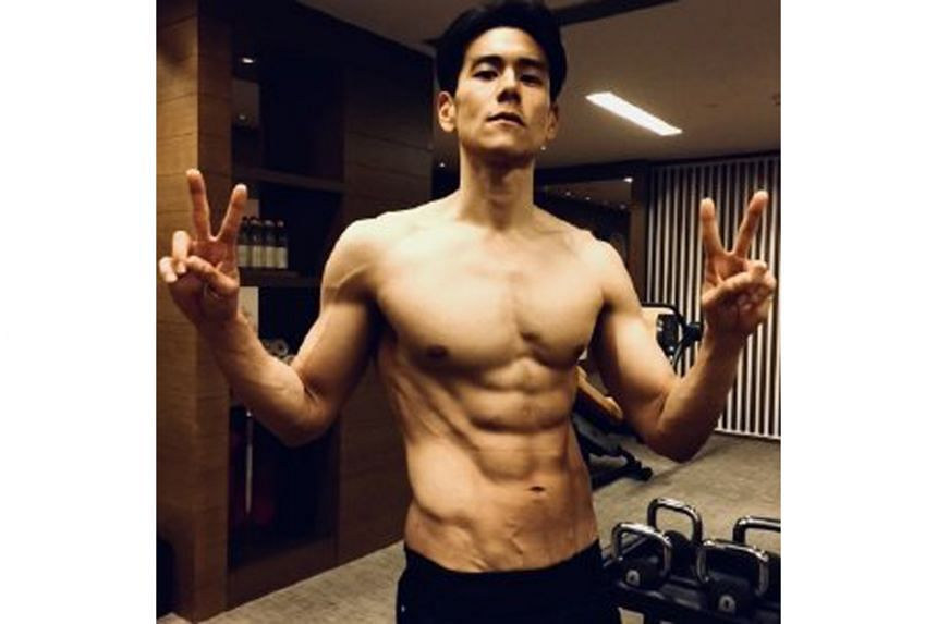 Actor Eddie Peng (above in a 2018 photo), known for his toned body, shocked fans in a movie trailer that showed his spinal column clearly visible through his skin.