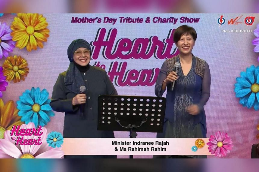 The show featured Members of the Parliament such as Minister in the Prime Minister's Office Indranee Rajah (right).