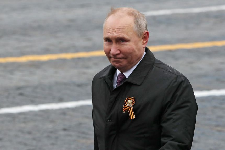 """President Vladimir Putin promised that Russia will """"firmly"""" defend national interests."""