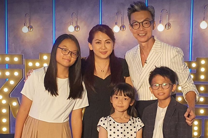 Mark Lee and his wife Catherine Ng have three children - (from left) Calista, Calynn, and Maksonn.