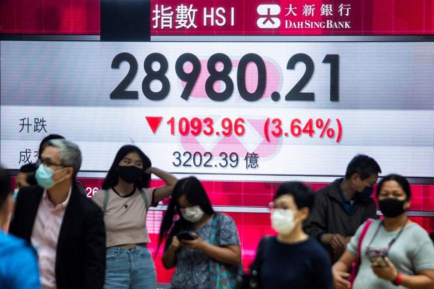 Tokyo, Hong Kong and Taipei were all down more than two per cent.