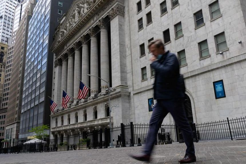 The Dow Jones Industrial Average ended down 0.1 per cent at 34,742.82.