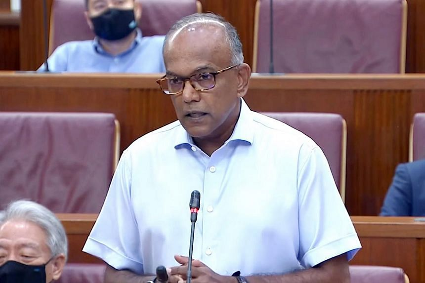 Mr Shanmugam urged all members of the House to condemn racist behaviour in Singapore.
