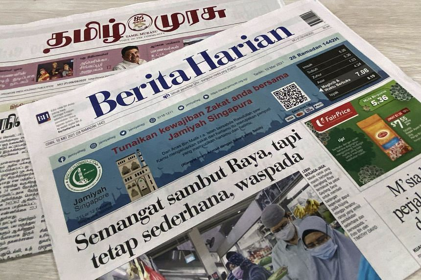 Vernacular newspapers have an important role in giving a voice to different communities, no matter their size, said Minister for Communications and Information S. Iswaran.