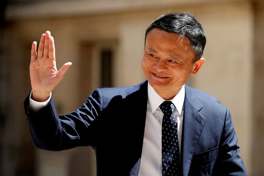 Jack Ma was seen in an open-air campus shuttle bus with a number of Alibaba executives on May 10, 2021.