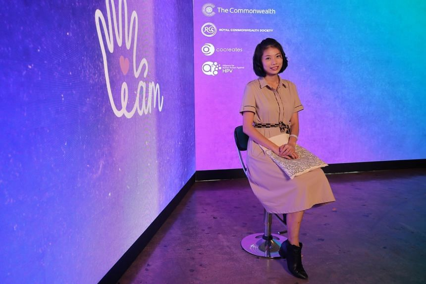 Cervical cancer survivor Summer Ng at the I AM campaign launch on May 11, 2021.